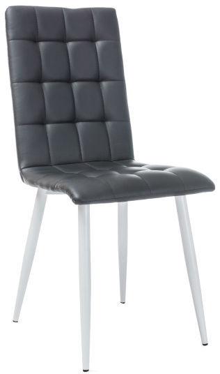 Ēdamistabas krēsls Signal Meble Otto White/Black, 1 gab.