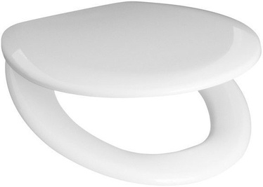 Jika Zeta WC Seat Ring with Lid White/Chrome