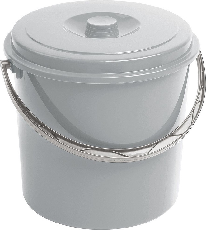 Curver Bucket With Lid 16L Gray