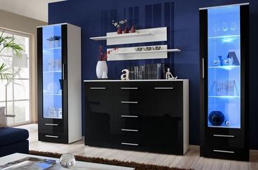 ASM Galino D Wall Unit White/Black Gloss