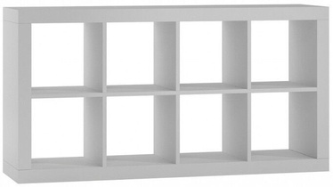 Top E Shop Kalax 2x4 Shelf Unit White