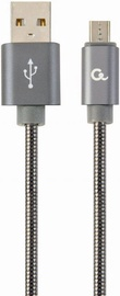 Gembird Premium USB To Micro USB Spiral Metal Grey 2m