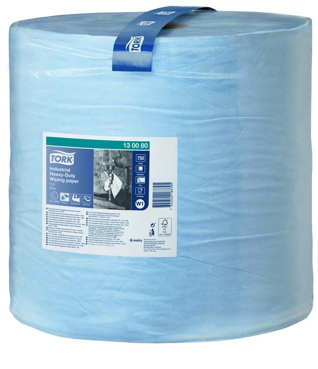 Tork Heavy Duty Wiping Paper 255m 1pcs Blue