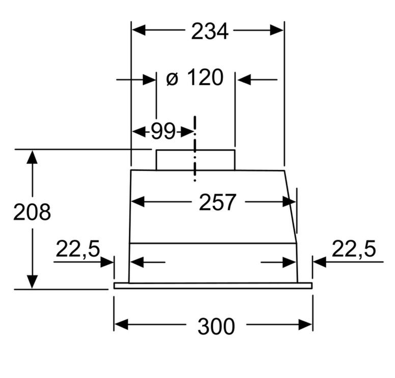 Встроенная вытяжка Siemens iQ100 LB53NAA30 Anthracite