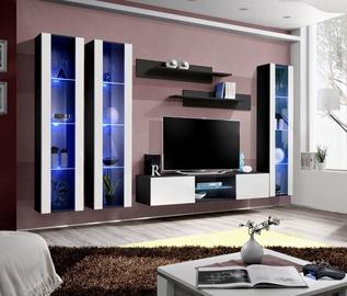 ASM Fly P2 Living Room Wall Unit Set White/Black