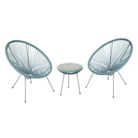 Home4you Como Balcony Furniture Set Blue