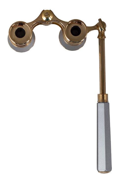 Levenhuk Broadway 325N Opera Glasses Silver Lorgnette