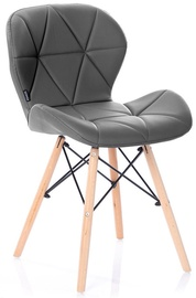 Ēdamistabas krēsls Homede Silla Eco Leather Graphite, 4 gab.