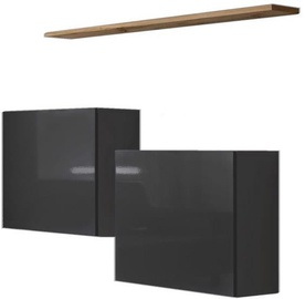 ASM Switch SB I Hanging Cabinet/Shelf Set Graphite/Wotan