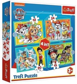 Пазл Trefl 4-in-1 Puzzle Paw Patrol 12/15/20/24/pcs 34346