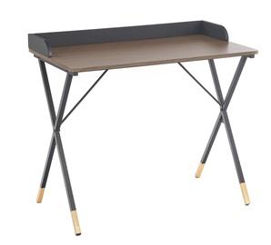 Письменный стол Halmar B-37 Walnut/Black/Gold