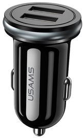 Usams C4 Universal Dual USB Car Fast Charger Black