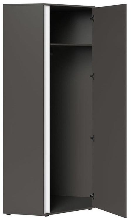 Black Red White Graphic Hallway Wardrobe 78x191x78cm Wolfram Grey