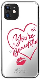 Kingxbar Angel Mirror You're Beautiful Back Case With Swarovski For Apple iPhone 11 Transparent