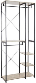 Verners Brasilia Shelf 900x2130x400mm Black/Wood
