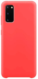 Hurtel Soft Flexible Rubber Back Case For Samsung Galaxy S20 Red