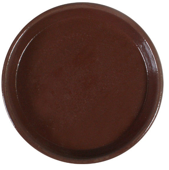 Home4you SIAM Saucer 28cm Brown Teak