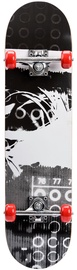 Скейтборд Meteor Wooden, черный/серый