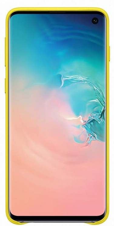 Samsung Leather Cover For Samsung Galaxy S10 Yellow
