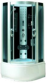 Dušas kabīne Laiva 9911, pusapaļā, 900x900x2200 mm