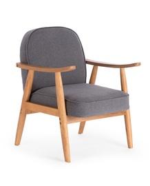 Atzveltnes krēsls Halmar Retro Grey, 70x64x76 cm