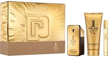 Komplekts vīriešiem Paco Rabanne 1 Million 50 ml EDT + 100 ml Shower Gel + 10 ml EDT