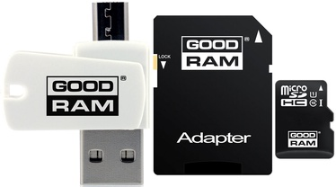 Atmiņas karte GoodRam M1A4 32GB microSDHC Class 10 + Adapter + USB Reader