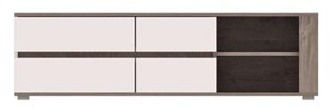 ТВ стол WIPMEB Ares AS2, белый/дубовый, 1500x450x430 мм