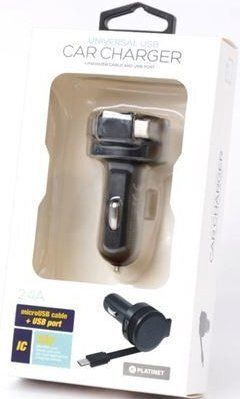 Platinet PLCRRCC Universal IC Car Charger 2.4A USB