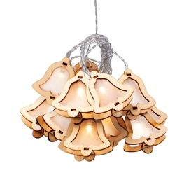 DecoKing Crala Wooden Bell LED Lights 10pcs