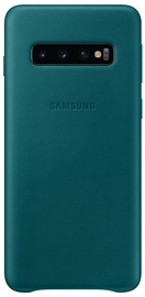 Samsung Leather Cover For Samsung Galaxy S10 Green