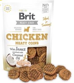 Gardums suņiem Brit Jerky Chicken Meaty Coins 80g