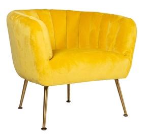 Atzveltnes krēsls Home4you Tucker Yellow, 78x71x69 cm