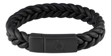 Aproce Zippo Braided Leather Bracelet 22cm
