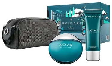 Bvlgari Aqva Pour Homme 100ml EDT + 100ml Aftershave Balm + Pouch