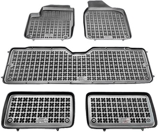 REZAW-PLAST VW Sharan 1995-2010 7-Seats Rubber Floor Mats