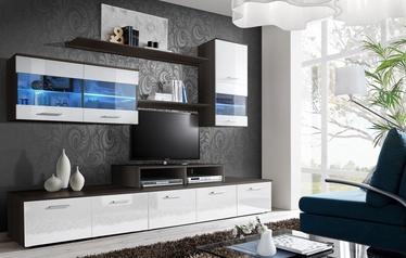 ASM Logo II Living Room Wall Unit Set LED White/Brown