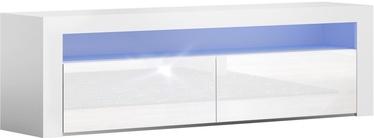 ТВ стол Pro Meble Milano 157 With Light White, 1575x350x500 мм
