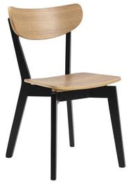 Ēdamistabas krēsls Home4you Roxby AC85660, brūna/melna