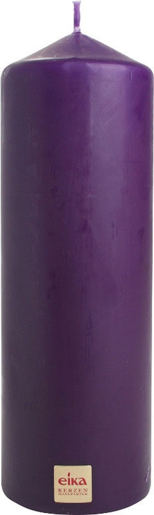 Eika Pillar Candle 21x7cm Dark Purple