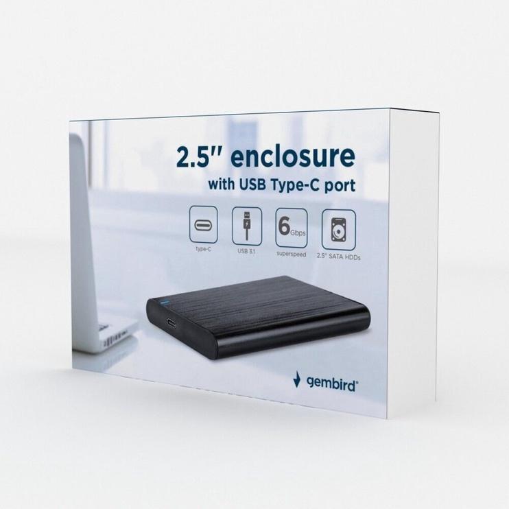 HDD / SSD korpuss (enclousure) Gembird EE2-U3S-6 USB 3.1 2.5'' Enclosure Black