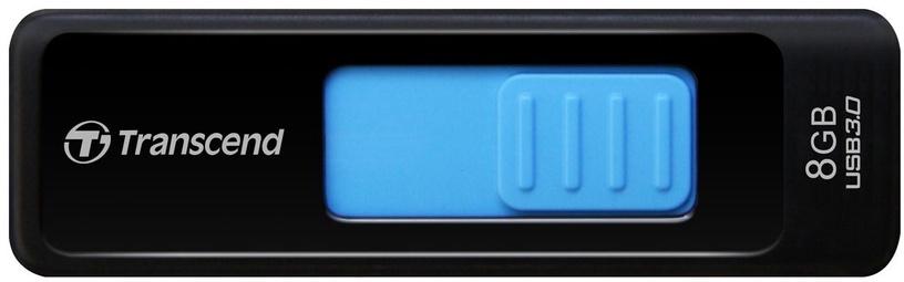 USB atmiņas kartes Transcend Jet Flash 760 Black/Blue, USB 3.0, 8 GB