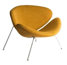 Atzveltnes krēsls Signal Meble Boom Major Mustard, 84x49x72 cm