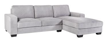 Stūra dīvāns Home4you Kendra Light Grey, labais, 268 x 165 x 84 cm
