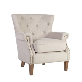 Atzveltnes krēsls Home4you Holmes 20181, bēša, 78x80x86 cm