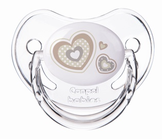 Canpol Babies Newborn Baby Orthodontic Silicone Soother Beige Hearts