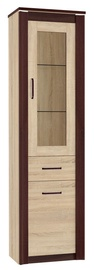 ML Meble Oliwier 06 Display Case Sonoma Oak