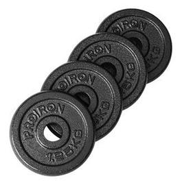 Disku svari ProIron Solid Cast Iron Weight Plates Set Black 4x1.25kg