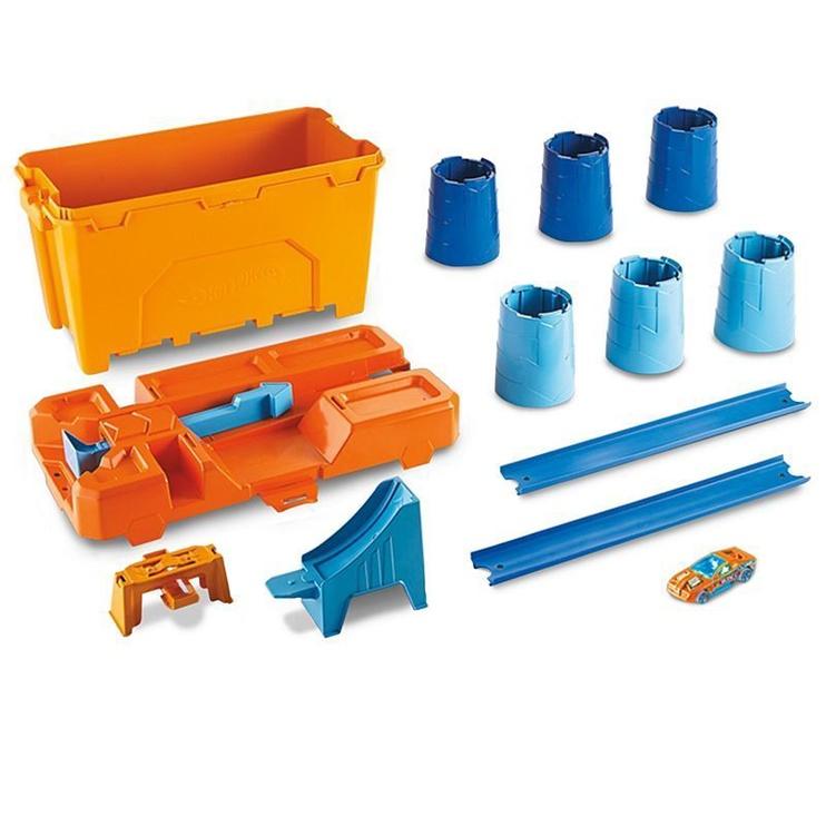 Автомобильная трасса Mattel Hot Wheels Track Builder Barrel Box Stunt Bin GCF91