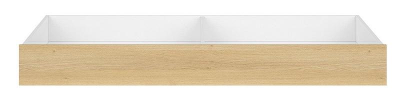 Black Red White Princeton Bed Drawer White Gloss/Polish Oak